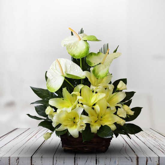 ارسال آنلاين سبد گل لطافت تهران