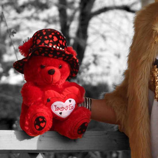 خرید آنلاین عروسک کلاه قلبی