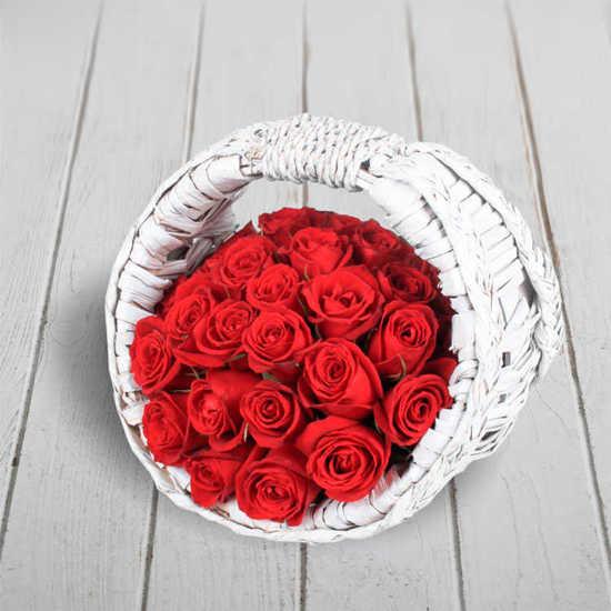 سفارش اینترنتی سبد گل رز عشق تهران