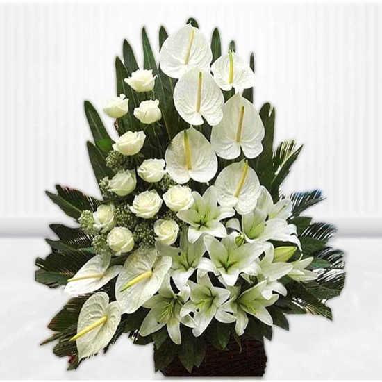 سفارش سبد گل ترحیم آذر در تهران