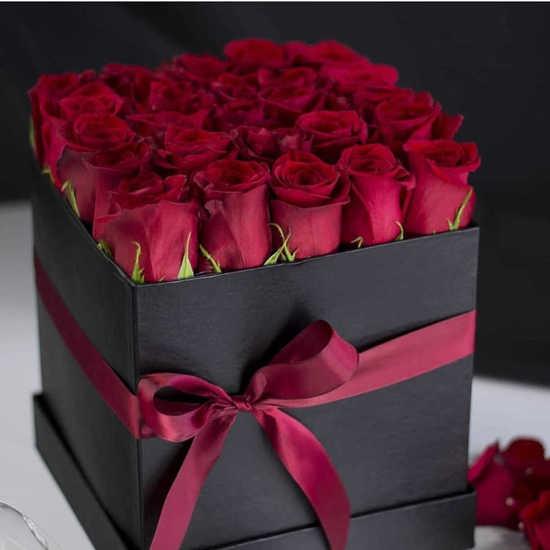 خرید باکس گل رز قرمز دایان تهران