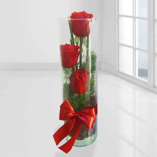 سفارش تنگ گل رز قرمز تهران