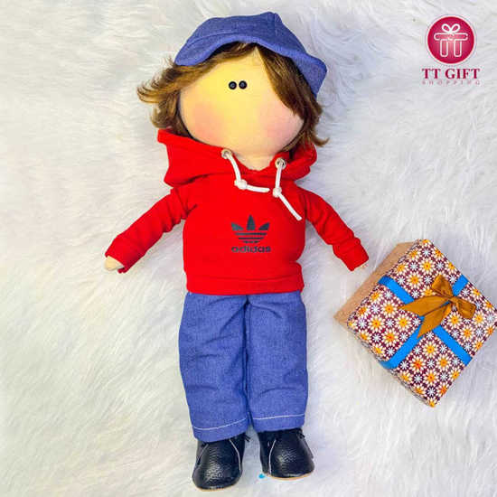 خرید عروسک پسر کلاه سرمه ای