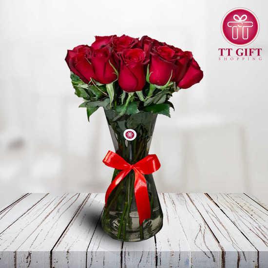سفارش گلدان گل رز پریسا